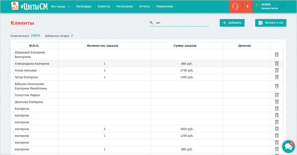 База клиентов в CRM