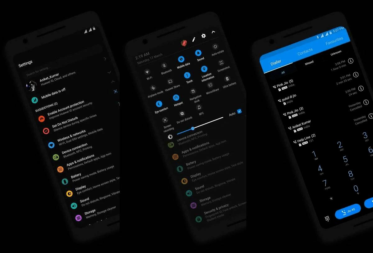 Темная тема на Android 10