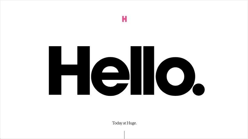 """Тренды дизайна - минимализм на сайте """"Huge Inc""""."""