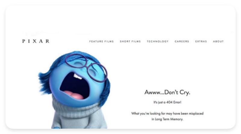 Тренды дизайна - UX-writing (компания Pixar)